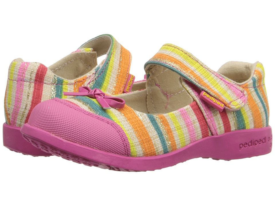pediped - Bree Flex (Toddler/Little Kid) (Multi Stripe) Girl's Shoes