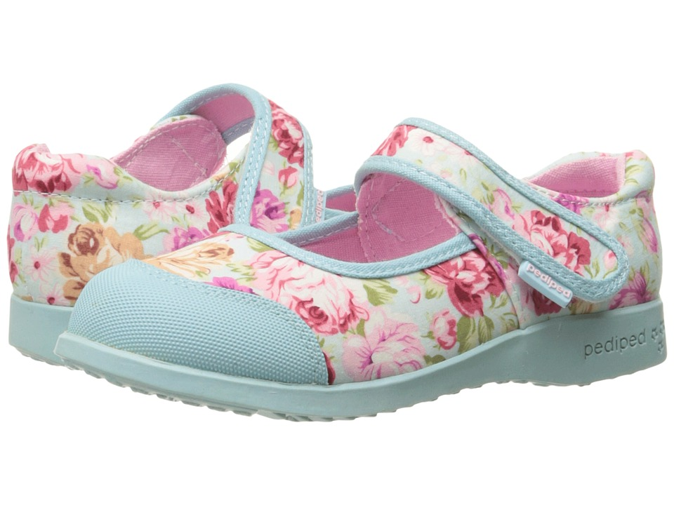 pediped - Bree Flex (Toddler/Little Kid) (Blue Floral) Girl's Shoes