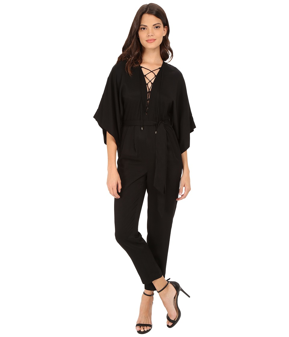 Rachel Zoe - Mirabel Lace Up Jumpsuit (Black) Women's Jumpsuit & Rompers One Piece
