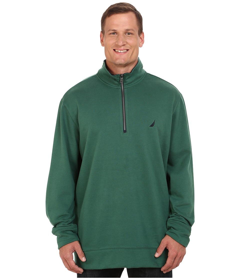 Nautica Big & Tall - Big Tall 1/4 Zip Pullover (Hunter Green) Men's Sweater