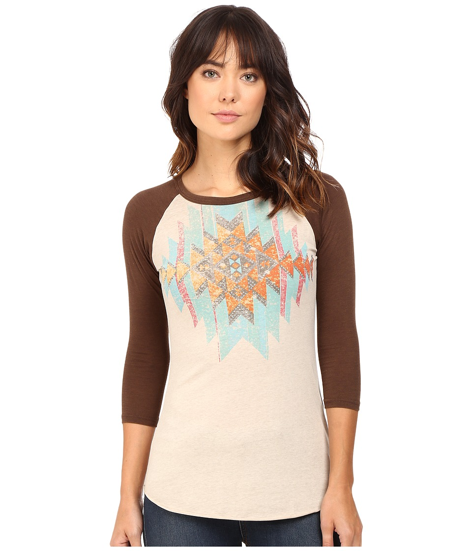 Rock and Roll Cowgirl - 3/4 Sleeve Knit 48T4269 (Natural) Women's Clothing