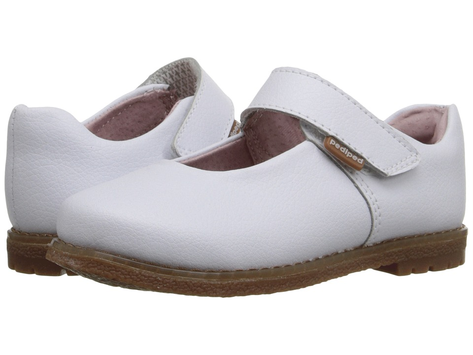 pediped - Ann Flex (Toddler/Little Kid) (White) Girls Shoes