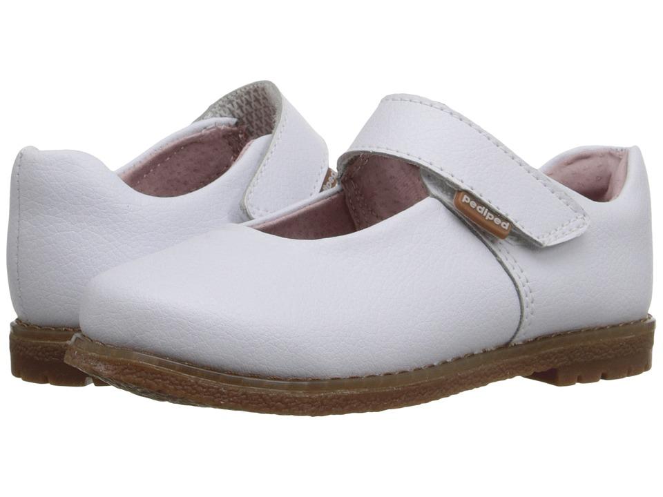pediped - Ann Flex (Toddler/Little Kid) (White) Girls Shoes