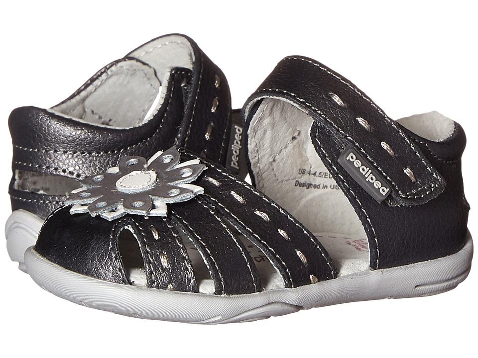 pediped - Sabine Grip n Go (Toddler) (Pewter) Girls Shoes