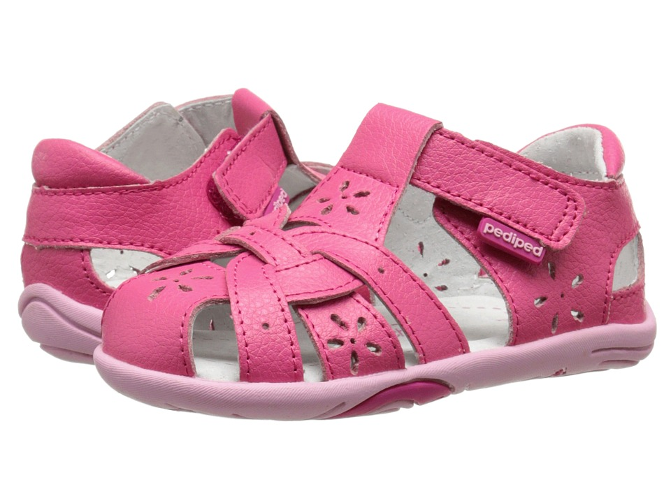 pediped - Nikki Grip 'n' Go (Toddler) (Fuchsia) Girl's Shoes