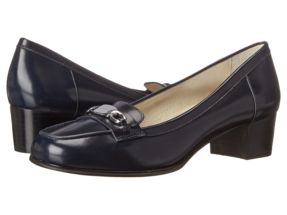 MICHAEL Michael Kors - Lainey Mid Loafer (Navy Brush-Off) Women's 1-2 inch heel Shoes