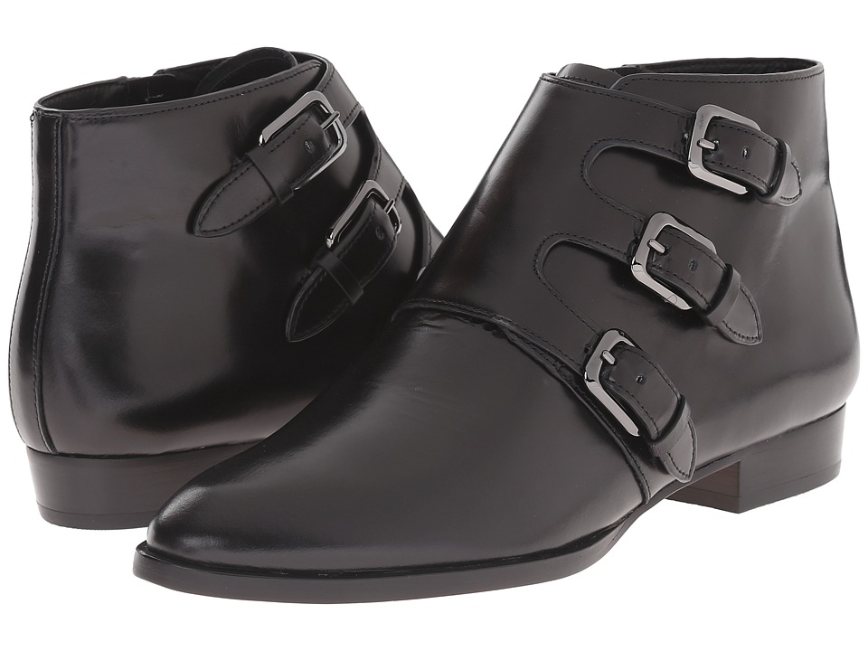 MICHAEL Michael Kors - Prudence Flat Bootie (Black Shiny Smooth Calf) Women