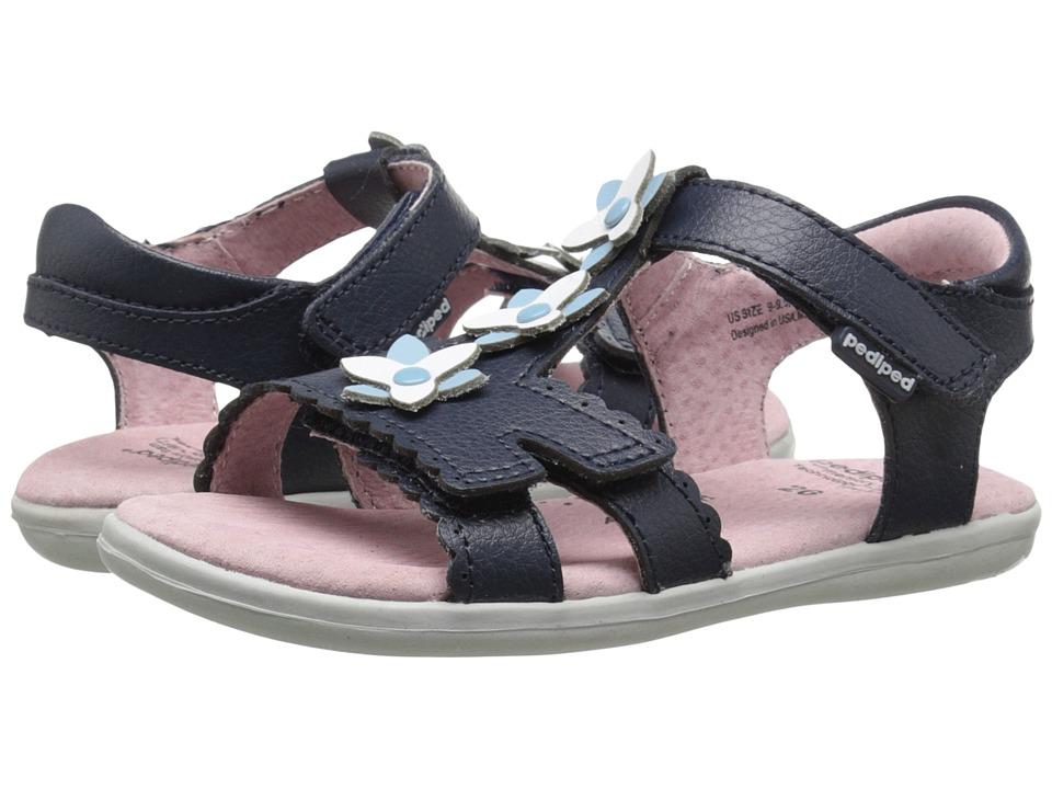 pediped - Sidra Flex (Toddler/Little Kid) (Navy) Girl's Shoes