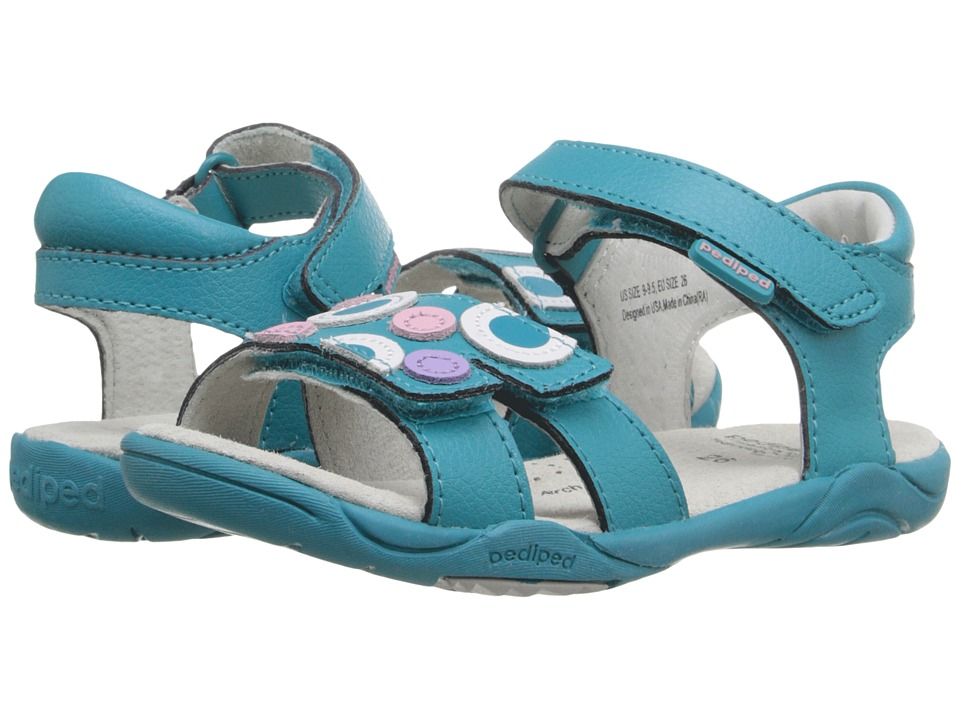 pediped - Jacqueline Flex (Toddler/Little Kid) (Peacock) Girls Shoes