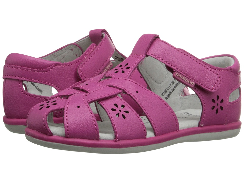 pediped - Nikki Flex (Toddler/Little Kid) (Fuchsia) Girls Shoes