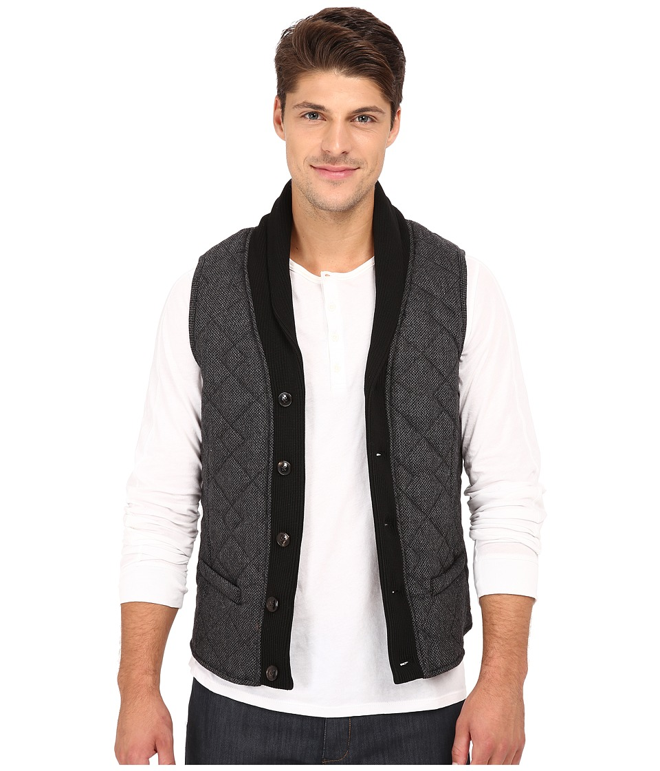 Scotch & Soda - Wool Shawl Vest (Grey) Men's Vest