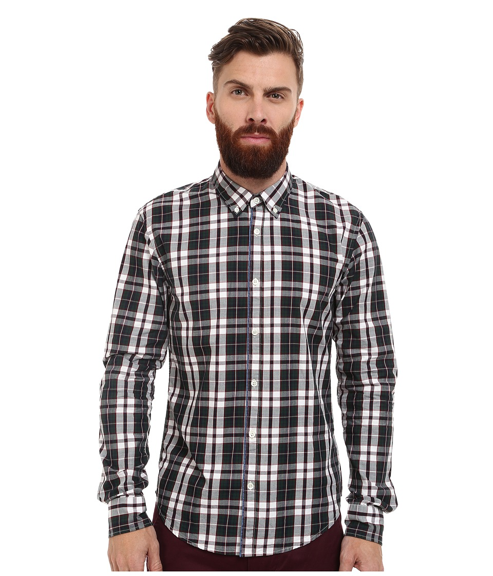 Scotch & Soda - Long Sleeve Multicolor Twill Check Shirt (Multi) Men's Clothing