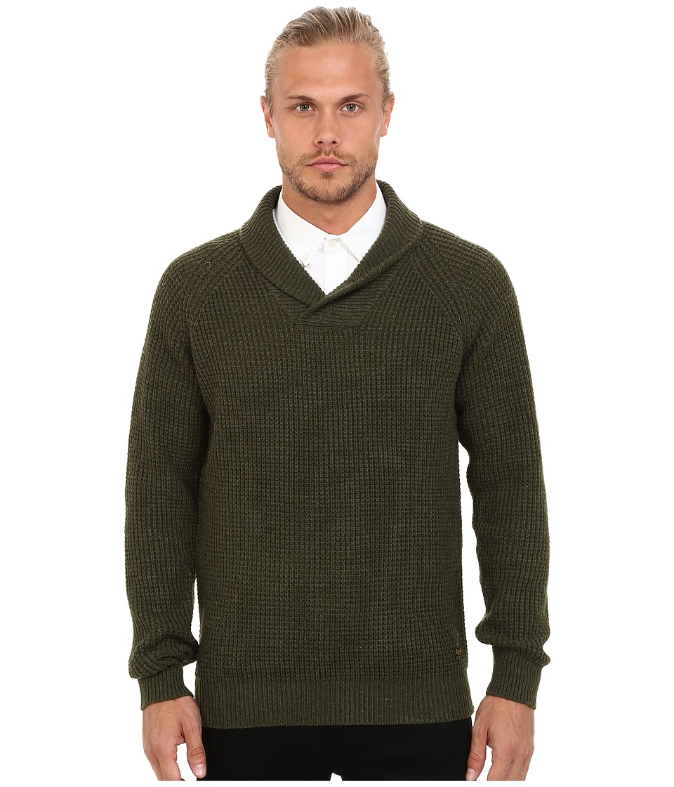 Scotch & Soda - Structured Shawl Pullover with Side Zip (Green Melange) Men's Clothing