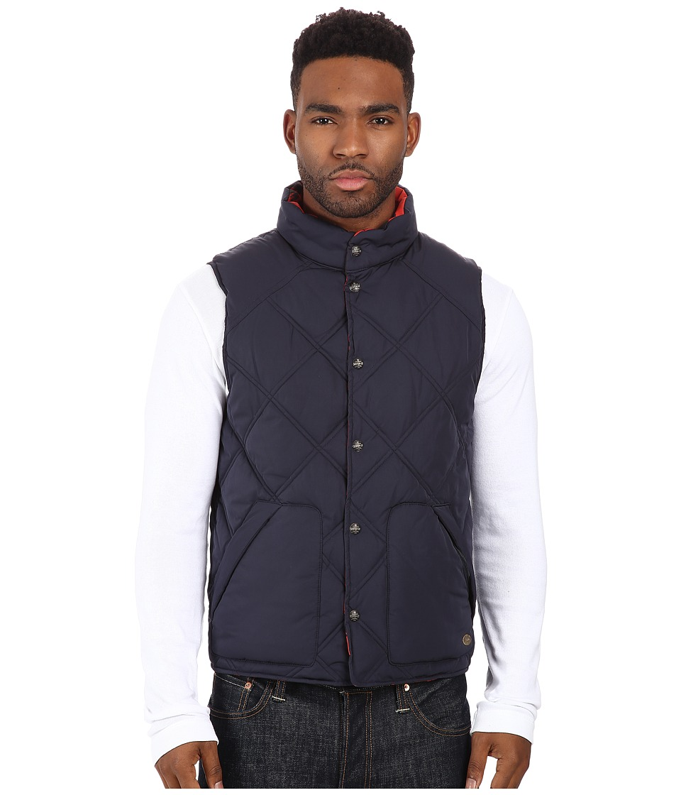 Scotch & Soda - Reversible Diamond Quilted Vest (Night) Men's Vest