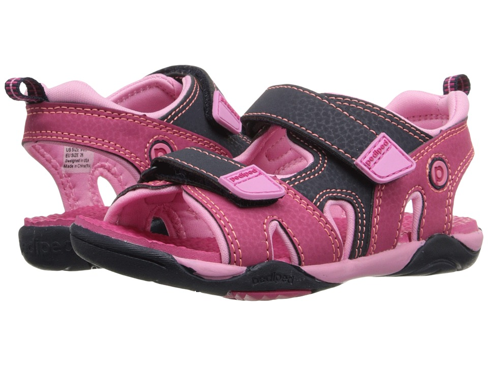 pediped - Navigator Flex (Toddler/Little Kid) (Pink/Navy) Girls Shoes