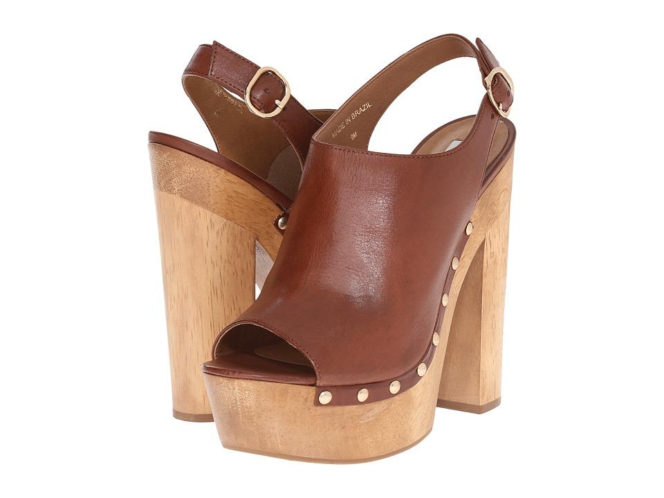 Steve Madden - Slngshut (Cognac Leather) High Heels