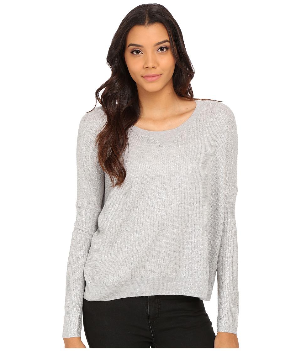 Soft Joie - Shakti 6069-K1945 (Light Heather Grey/Shimmer) Women's Long Sleeve Pullover
