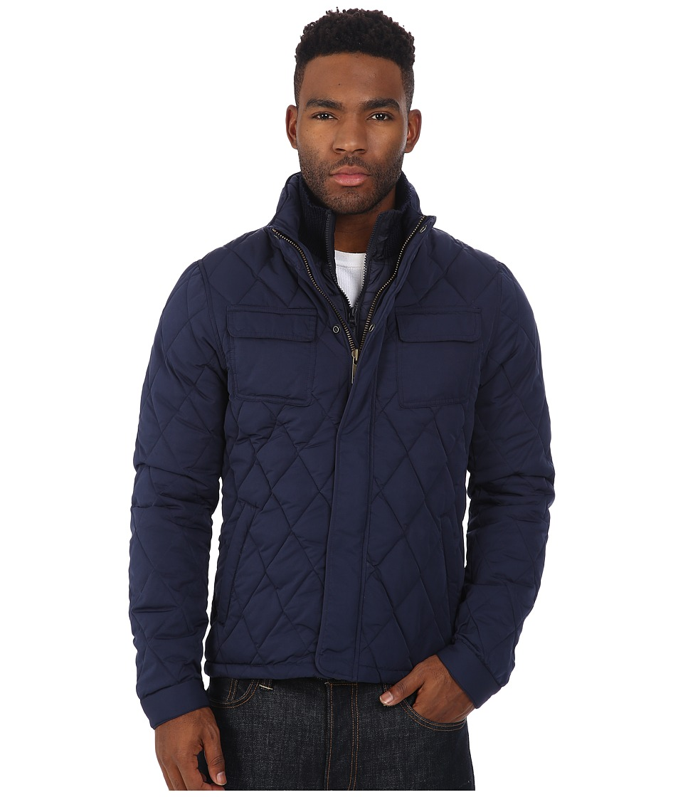 Scotch & Soda - Light Padded Peached Nylon Jacket with Rib Collar (Night) Men's Coat