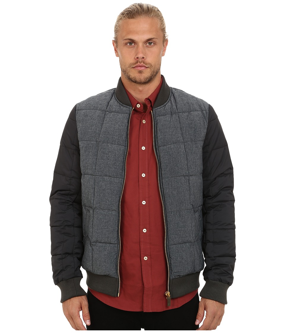 Scotch & Soda - Classic Quilted Bomber Nylon Jacket (Charcoal) Men's Coat