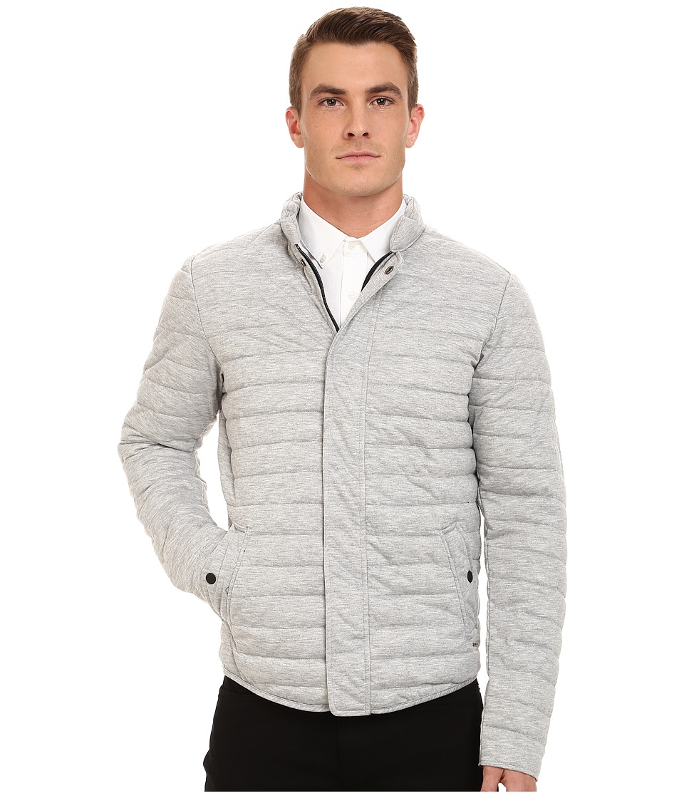 Scotch & Soda - Short Horizontal Quilt Jacket (Grey Melange) Men's Coat