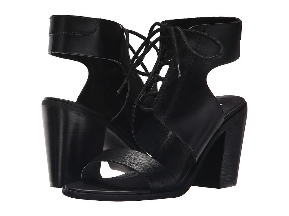 Steve Madden - Nanno (Black Leather) High Heels