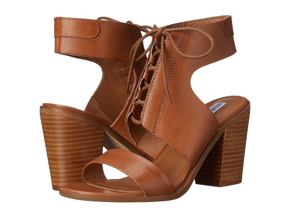 Steve Madden - Nanno (Cognac Leather) High Heels