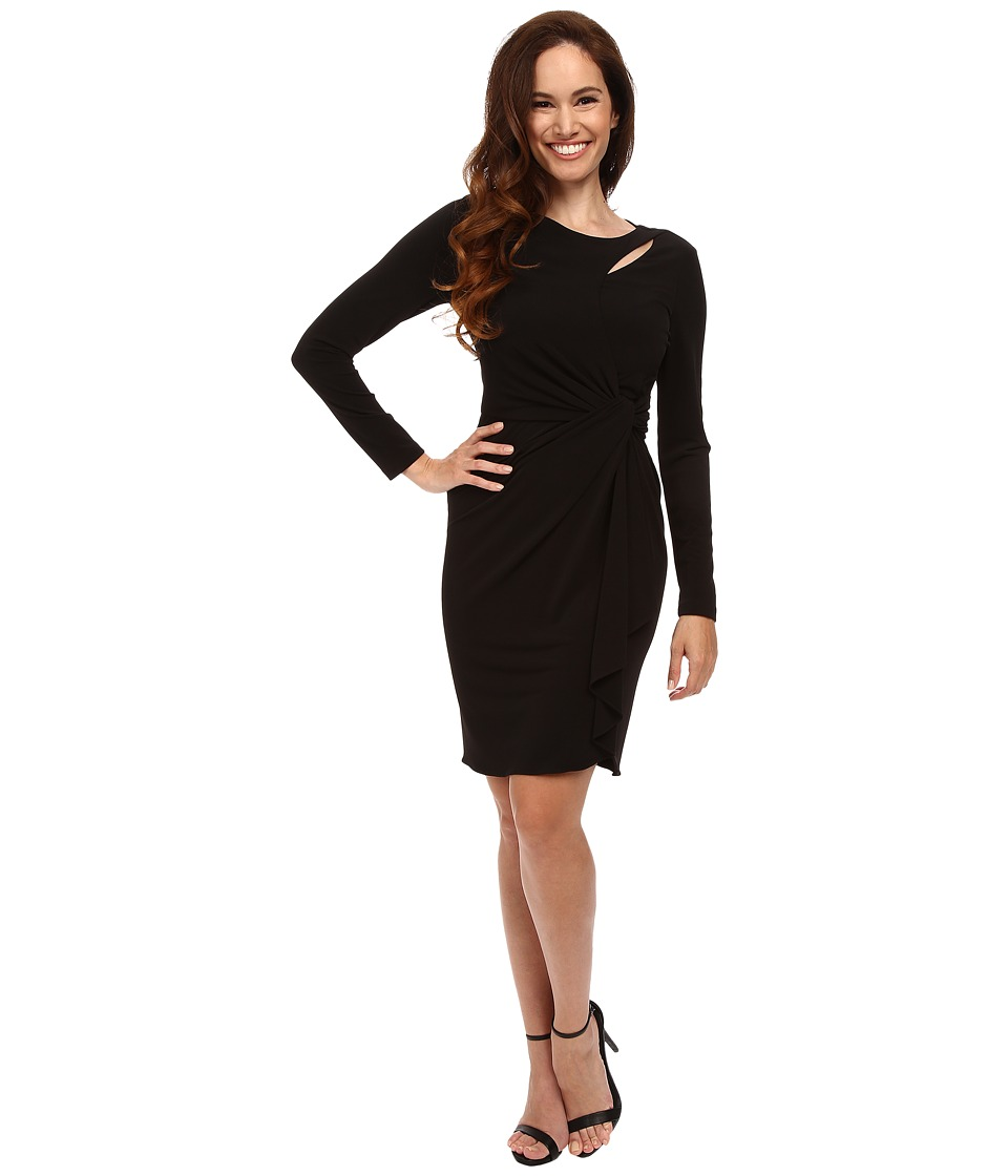 Tahari by ASL Petite - Petite Matte Jersey Side Rouch (Black) Women's Dress