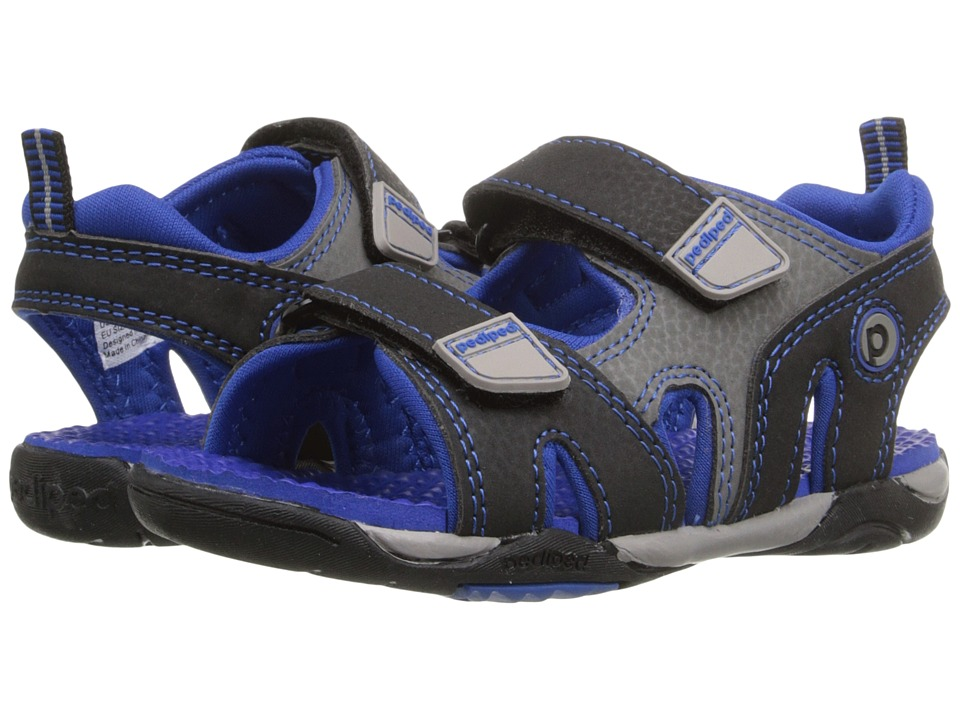 pediped - Navigator Flex (Toddler/Little Kid) (Black/King Blue) Boys Shoes