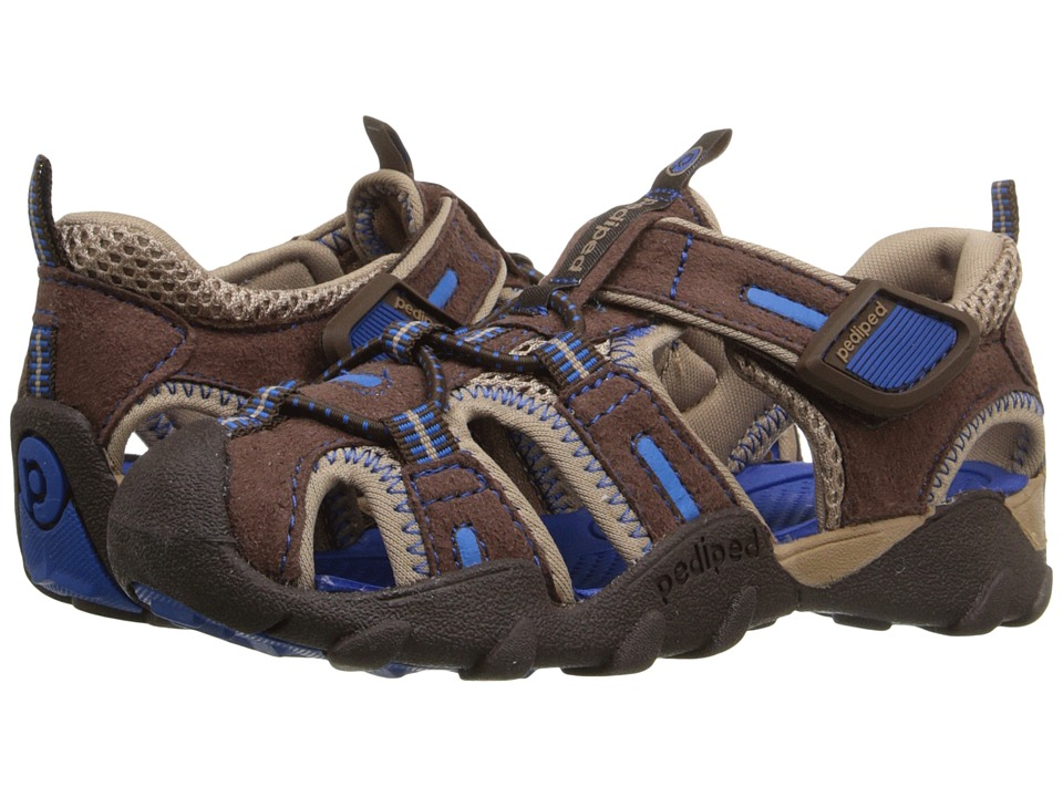 pediped - Canyon Flex (Toddler/Little Kid/Big Kid) (Brown/Blue) Boys Shoes