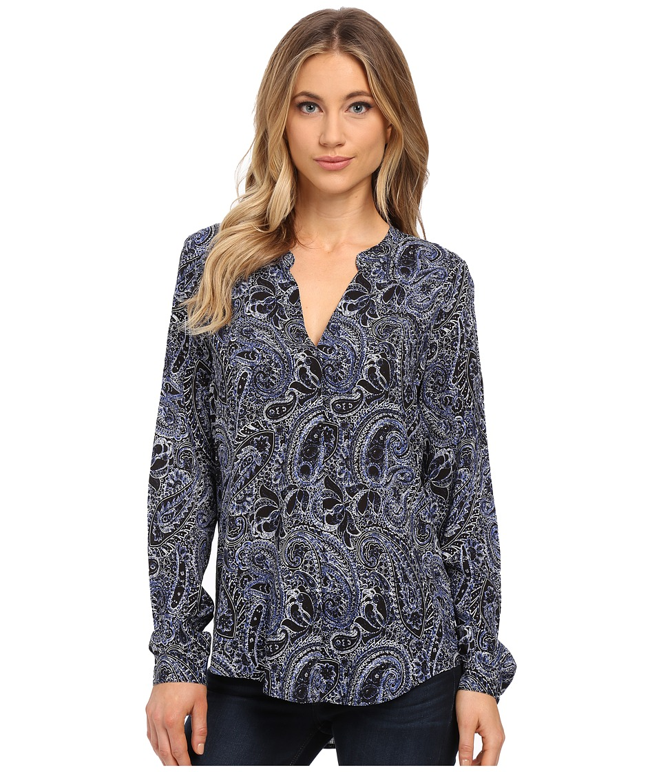 Velvet by Graham & Spencer Adal Long Sleeve Peasant Shirt (Paisley) Women's Clothing