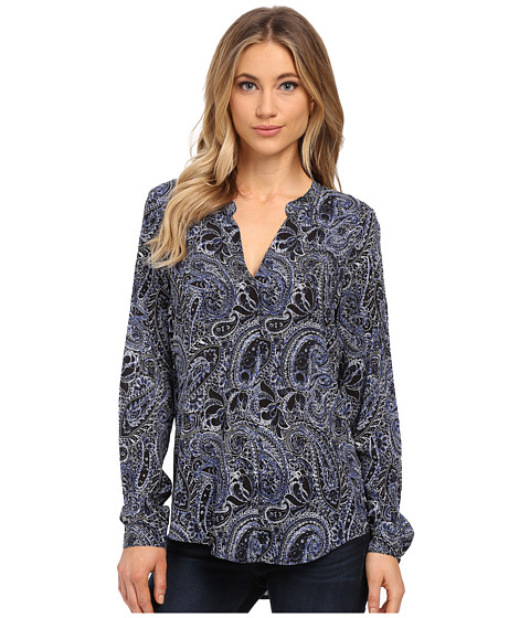 Velvet by Graham & Spencer - Adal Long Sleeve Peasant Shirt (Paisley) Women's Clothing