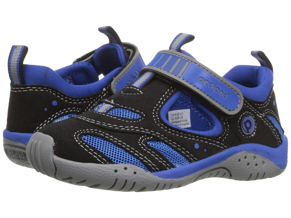 pediped - Stingray Flex (Toddler/Little Kid) (Black/King Blue) Boys Shoes