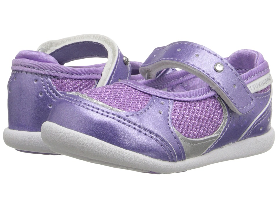 Tsukihoshi Kids Sparkle (Toddler) (Purple Sparkle) Girls Shoes
