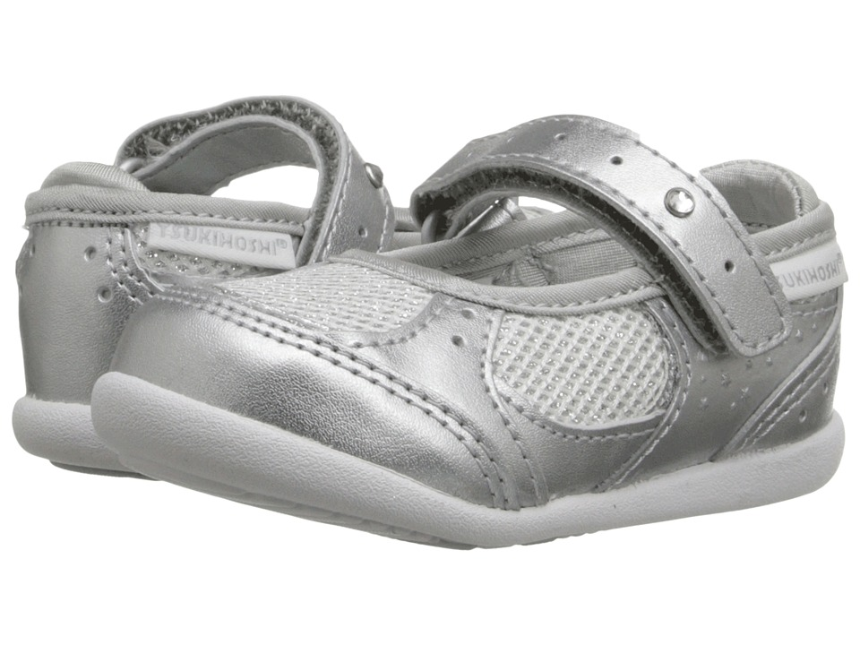 Tsukihoshi Kids - Sparkle (Toddler) (Silver Sparkle) Girls Shoes
