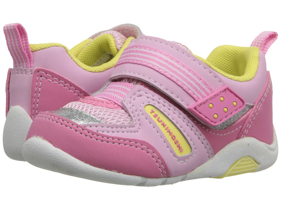 Tsukihoshi Kids - Neko (Toddler) (Pink/Yellow) Girls Shoes