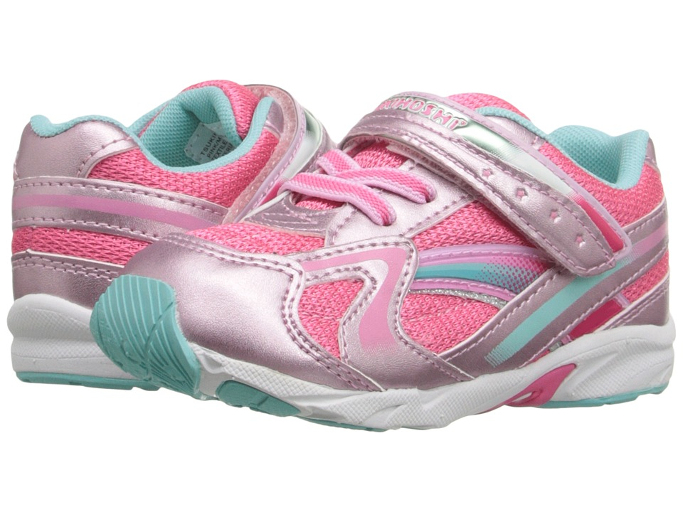 Tsukihoshi Kids - B. Glitz (Toddler) (Pink/Mint) Girls Shoes