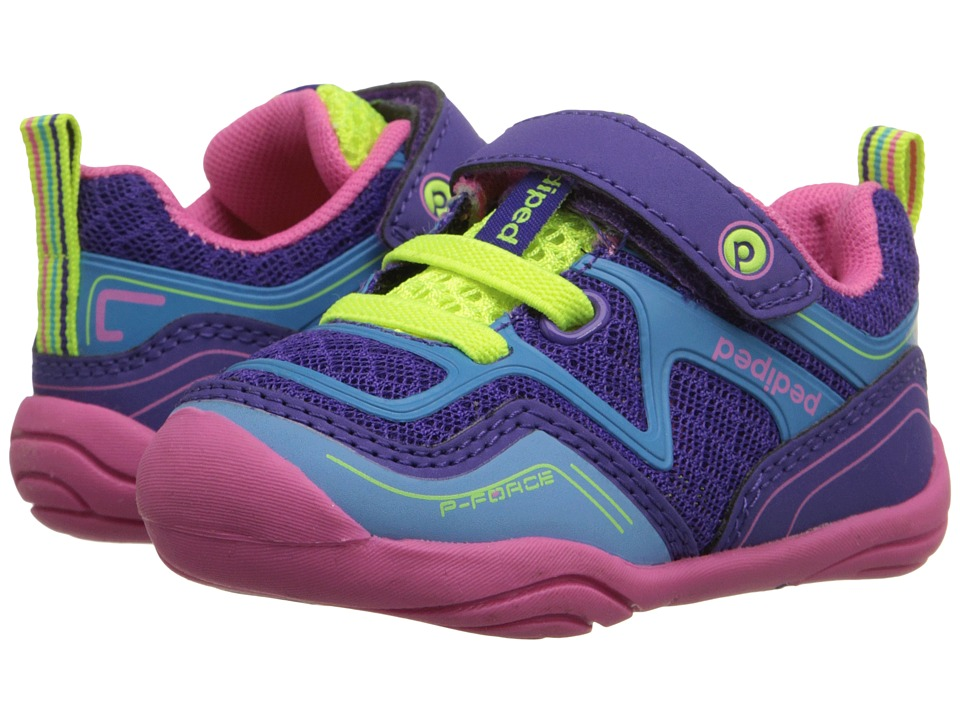 pediped - Force Grip n Go (Toddler) (Purple Azure) Girl's Shoes