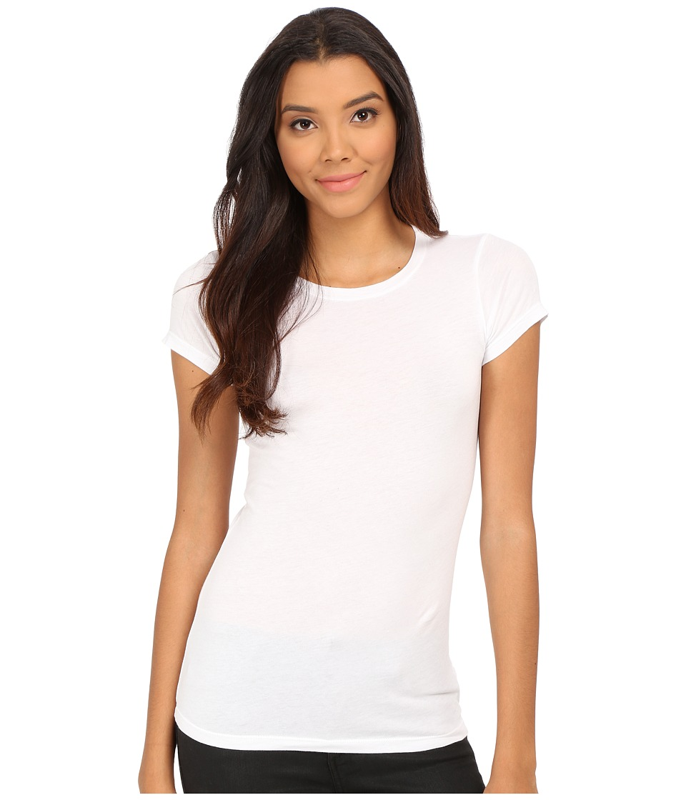 Velvet by Graham & Spencer - Jemma Short Sleeve Crew Neck Top (White) Women's Clothing