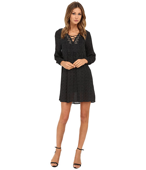Velvet by Graham & Spencer - Sloane Peasant Dress (Black) Women's Dress