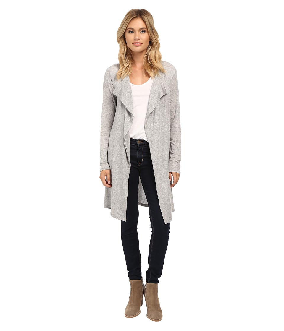 Velvet by Graham & Spencer - Heavenly Long Sleeve Open Cardi (Heather Grey) Women's Sweater