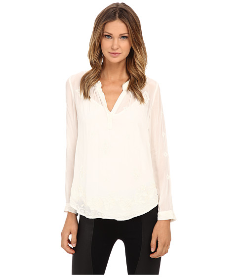 Velvet by Graham & Spencer - Emmaline Long Sleeve Blouse (Cream) Women's Blouse