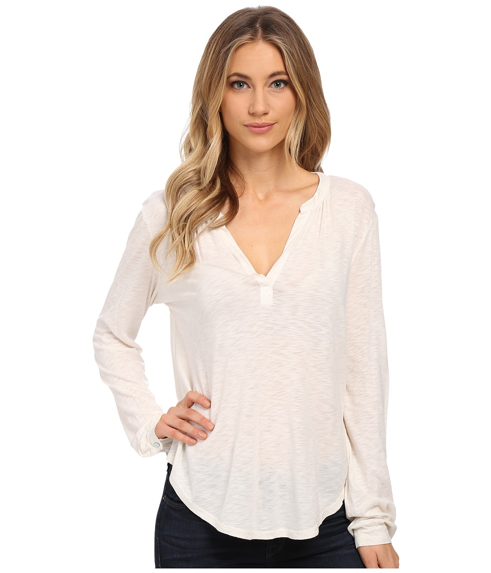 Velvet by Graham & Spencer - Chrishelle Peasant Top (Crema) Women's Clothing