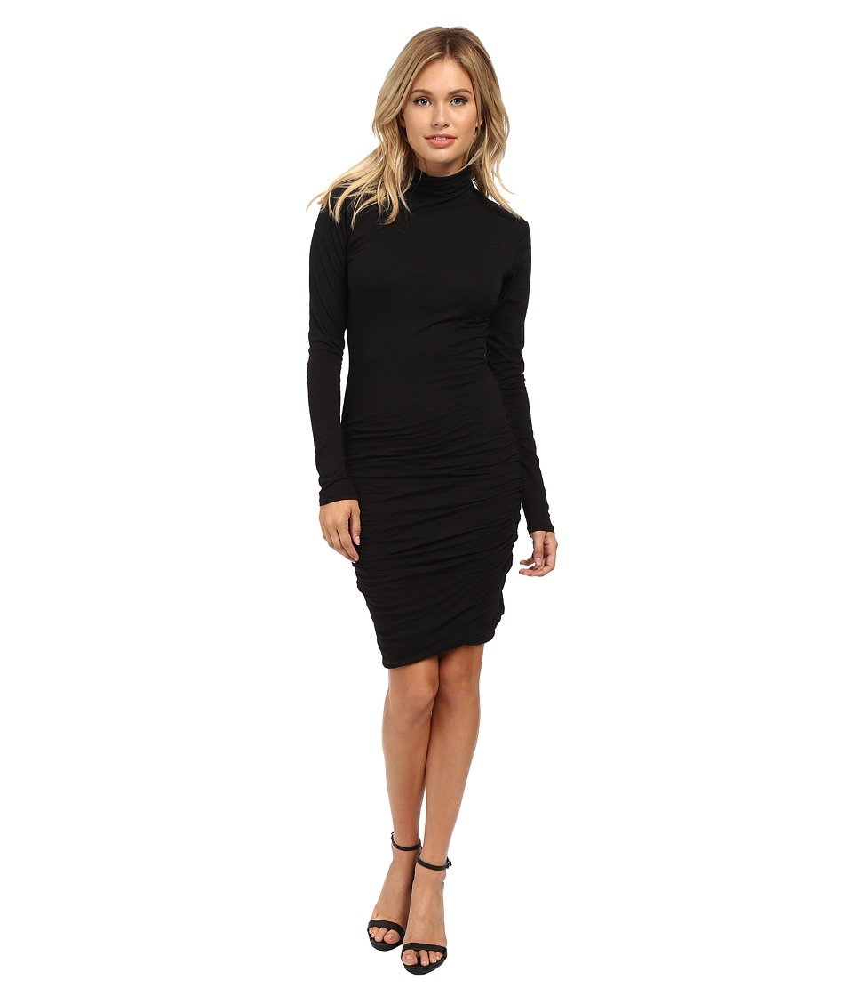 Velvet by Graham & Spencer - Pietro Long Sleeve Mock Neck Dress (Black) Women