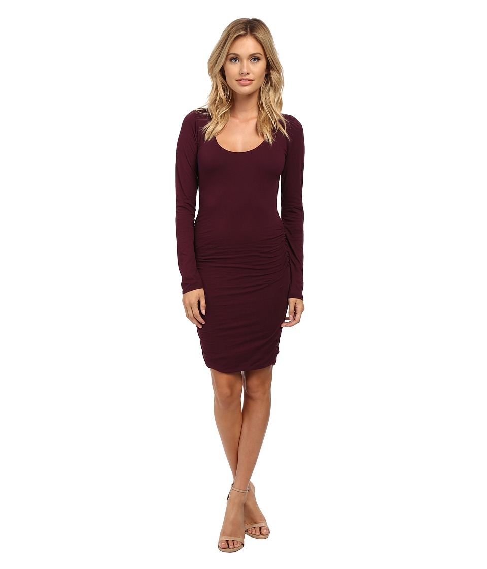 Velvet by Graham & Spencer - Shayla Scoop Neck Dress (Blackberry) Women's Dress