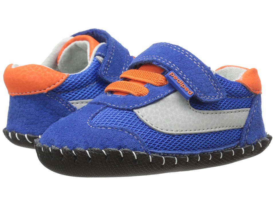 pediped - Cliff Originals (Infant) (Blue/Orange) Boy's Shoes