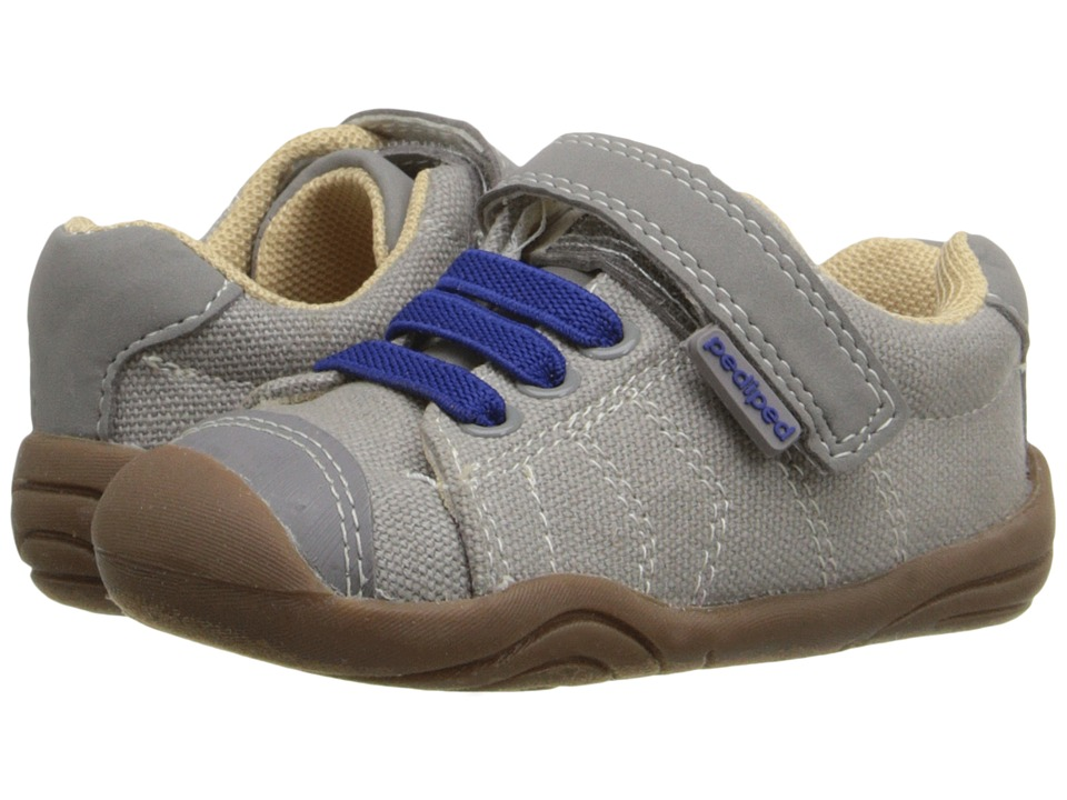 pediped - Jake Grip 'n' Go (Toddler) (Light Grey/Blue) Boys Shoes
