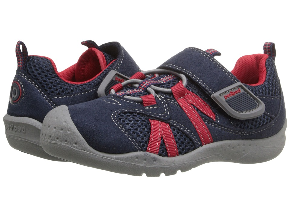 pediped - Renegade Flex (Toddler/Little Kid) (Navy/Red) Boy's Shoes