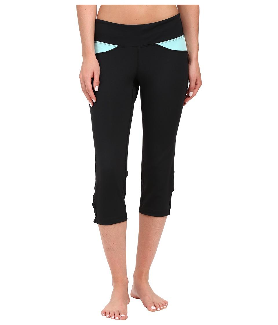 Stonewear Designs - Volt Capris (Black/Aqua) Women's Capri