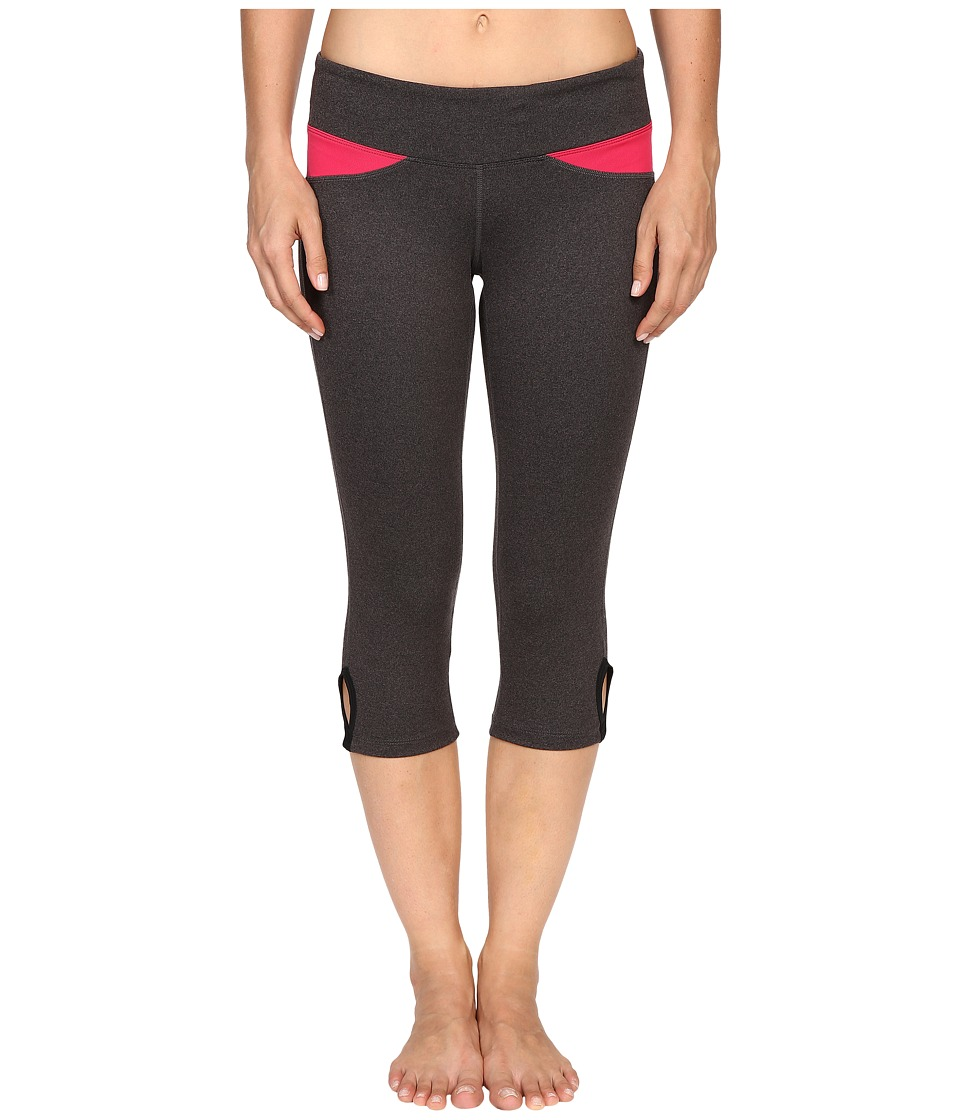 Stonewear Designs Volt Capris (Heather Gray/Barberry) Women