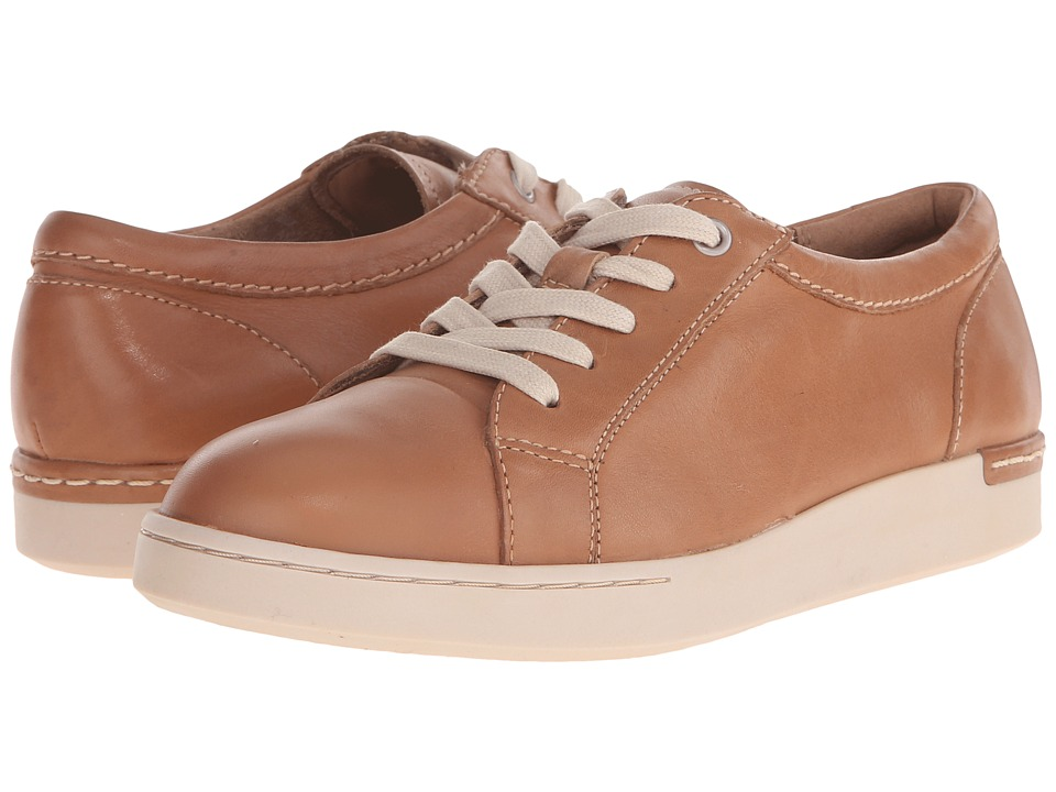 Clarks - Cordella Chant (Beige Leather) Women's Lace up casual Shoes